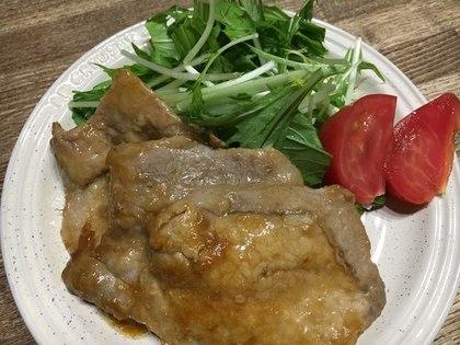 豚肉の甘辛ニンニク焼き