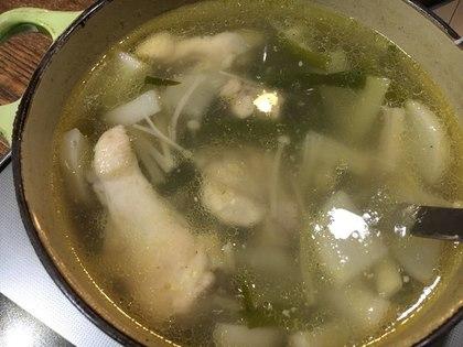 手羽元と大根の塩スープ