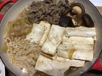 ビュッフェキャセロールで肉豆腐