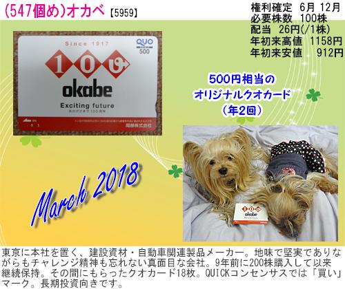 (547)2018年03月到着 オカベ