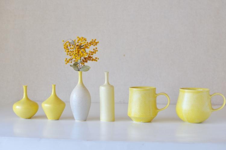和田麻美子/花器黄色、マグ黄色 (1)