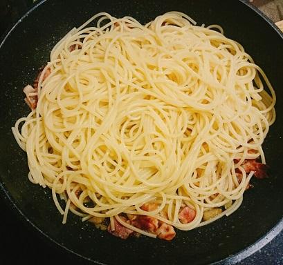 ねば〜る山芋ペペロンチーノ5