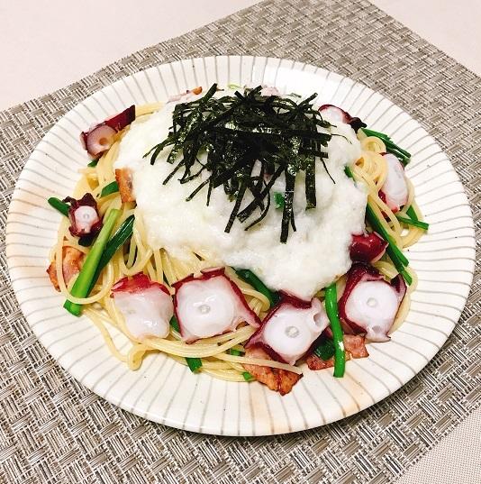 ねば〜る山芋ペペロンチーノ8