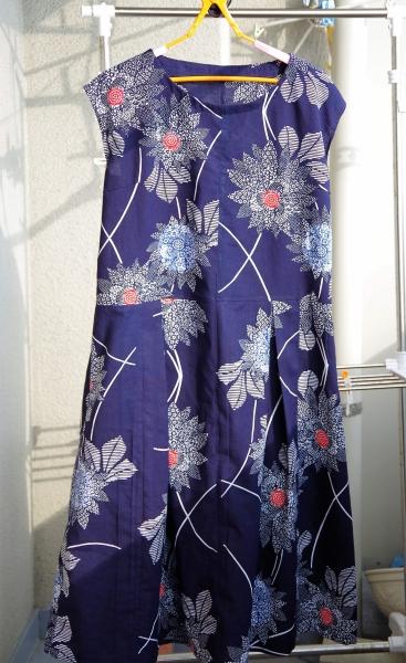 浴衣 remake one-piece dress フレンチスリーブ