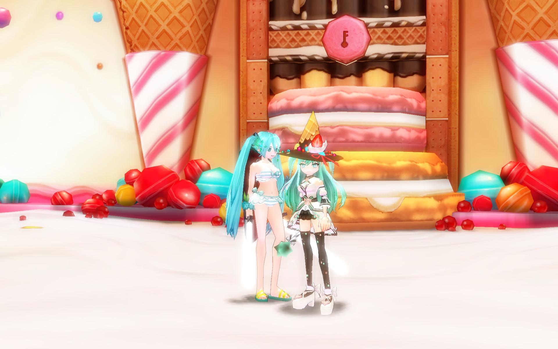 ミクのチョコミントワッフルコーン8