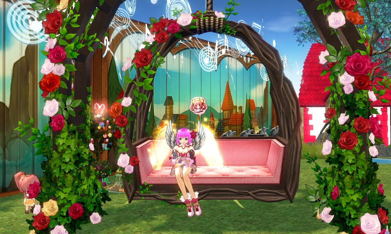 バラの庭園ブランコ1