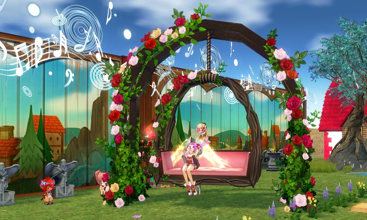 バラの庭園ブランコ2