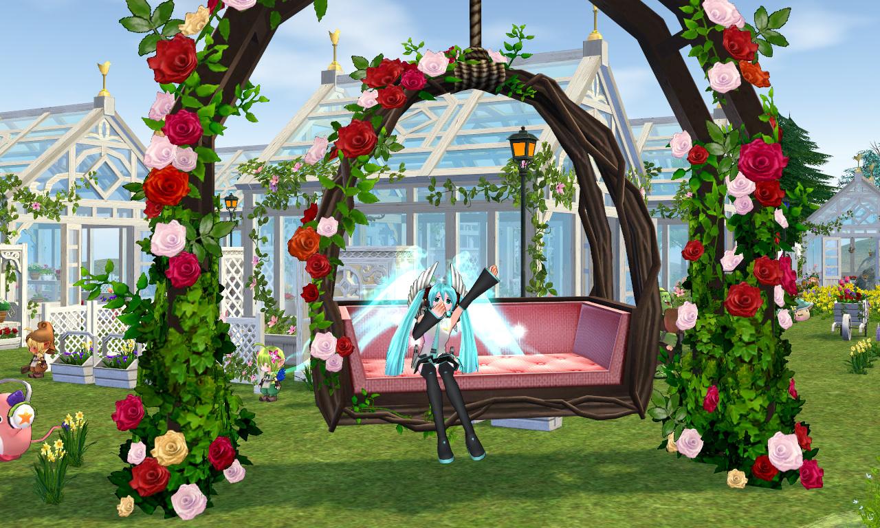 バラの庭園ブランコ3