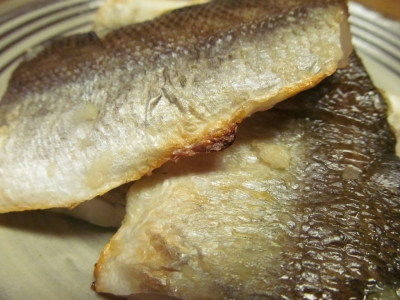 アカカマスの塩麹大蒜焼きアップ2