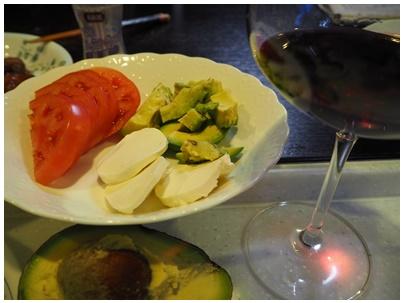 ワインとアボカド1