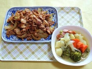 CAI_180402_5103 豚肉の生姜炒め・ポトフ_VGA