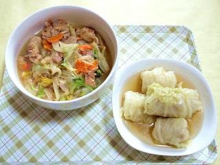 CAI_180405_5109 鶏肉と白菜のうま煮・ロールキャベツ_VGA