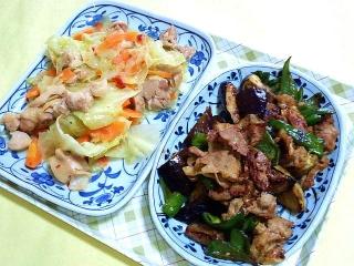 CAI_180430_5128 鶏もも肉とキャベツの塩ダレ炒め・豚肉と茄子ピーマンのオイスター炒め_VGA
