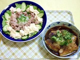 CAI_180524_5146 豆腐と大根おろしの豚しゃぶサラダ・茄子の甘ポン酢煮大根おろしのせ_VGA