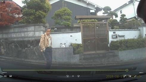 7 車庫入れ中の前カメラ画像