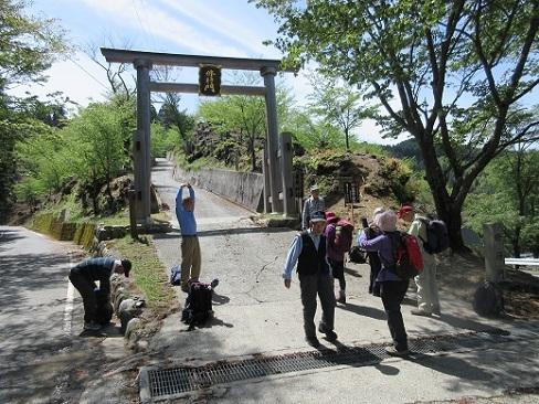 3 金峰神社入口にタクシーで到着