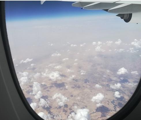 11 シリアの上空 通過中