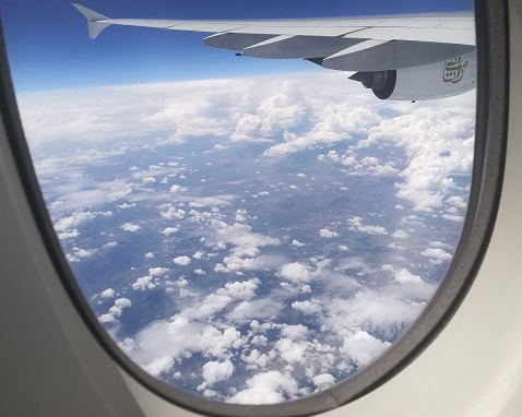 12 トルコの上空 通過中