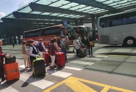 18 ミラノ マルペンサ国際空港へ到着