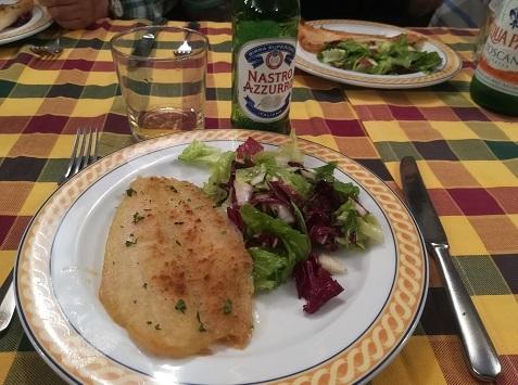 28 昼食 マトウダイの料理