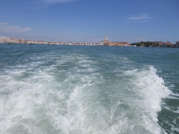 15 水上乗合バスからヴェネツィア本島の景色