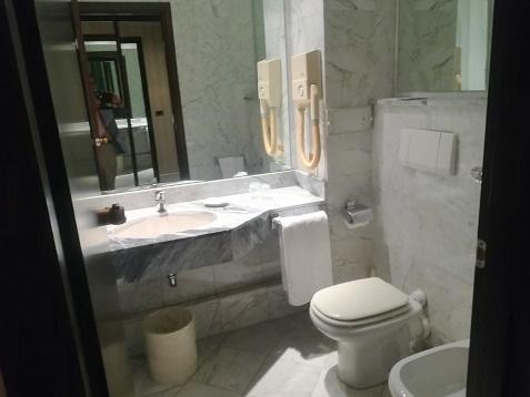 28 フィレンツェのホテル バストイレ