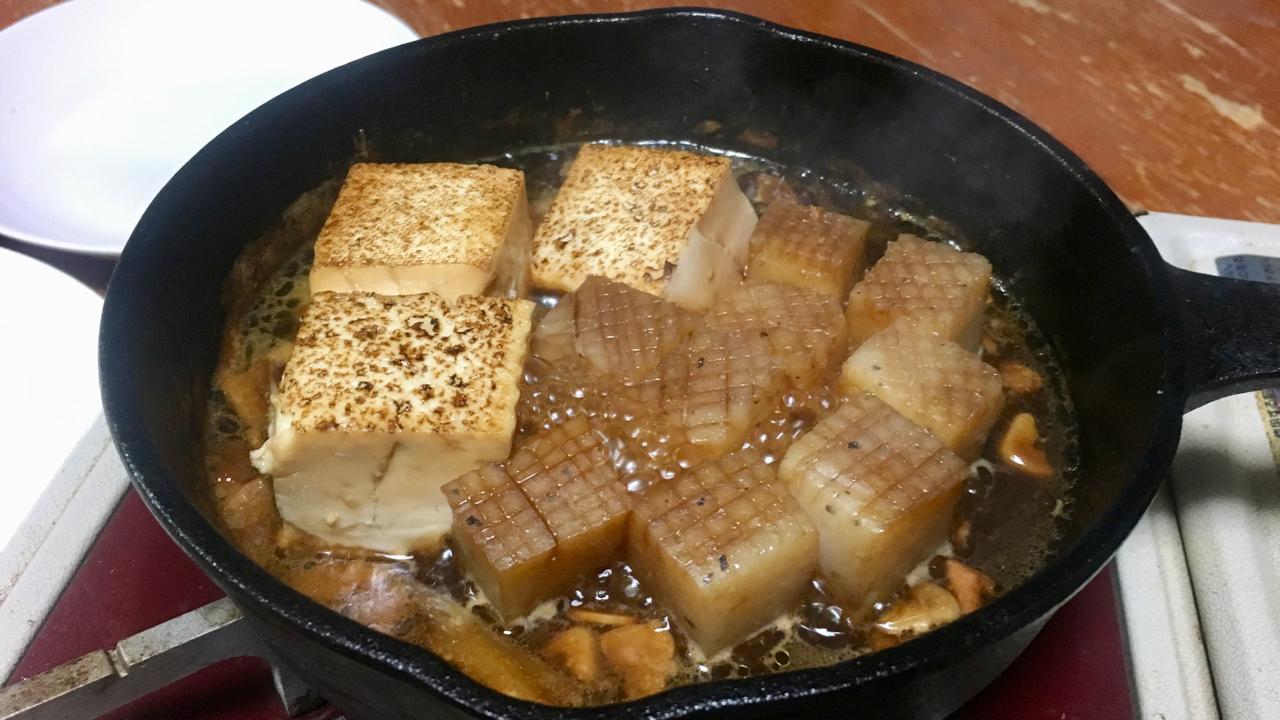 焼き豆腐とコンニャク