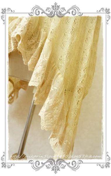 0414イレヘムショートカーディガン(イエロー)裾フリル