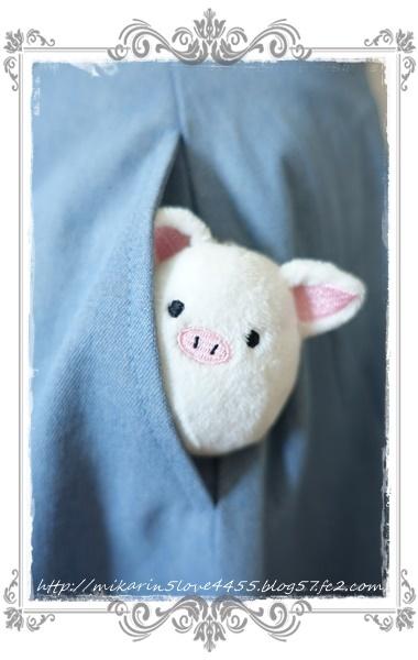 0601裾刺繍デニムスカート(ウォッシュ)ぷにたまジャッジ