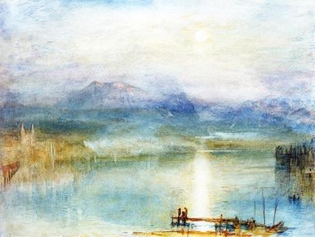 タンポポ ターナー リギ山とルツェルン湖小