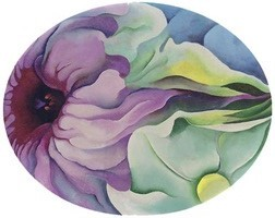 georgia-okeeffe-petunias-in-oval,-no_2
