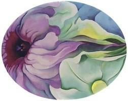georgia-okeeffe-petunias-in-oval,-no_2