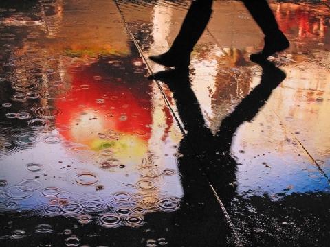 雨の日 街