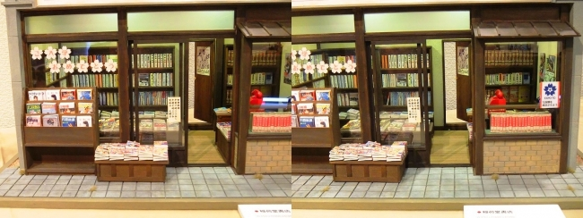 kinoe-ne ドールハウス 稲荷堂書店③(平行法)