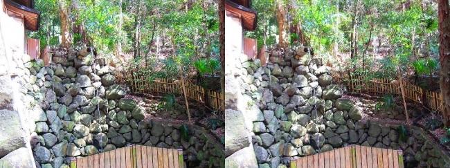 枚岡神社 禊場 二条の滝(交差法)