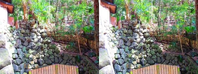 枚岡神社 禊場 二条の滝(平行法)