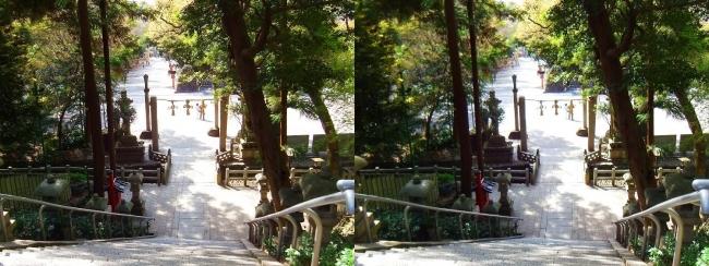 枚岡神社 拝殿への参道石段③(平行法)