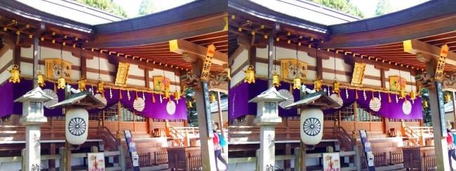 枚岡神社 拝殿②(平行法)