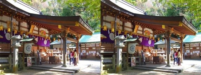 枚岡神社 拝殿①(平行法)