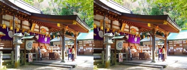 枚岡神社 拝殿①(交差法)