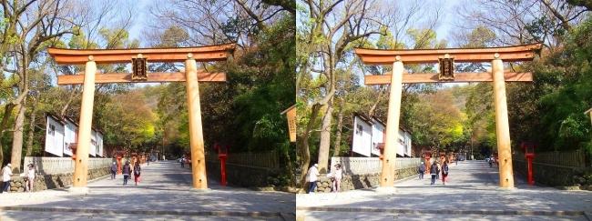 枚岡神社 二の鳥居②(平行法)
