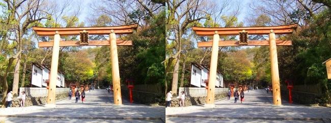 枚岡神社 二の鳥居②(交差法)