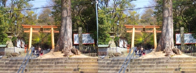 枚岡神社 二の鳥居①(平行法)