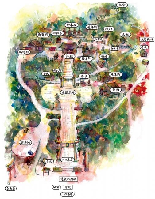 枚岡神社境内図