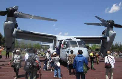 MV-22オスプレイBell Boeing V-22 Ospreyキャンプ富士フライトラインフェスティバル2018在日米軍2018 Camp Fuji Flightline Festivalフレンドシップ・フェスティバル2018年5月5日(土)イベント静岡県御殿場アメリカ軍海兵隊U.S. Forces Japan USFJ陸上自衛隊富士学校・富士駐屯地滝ヶ原板妻駒門北富士