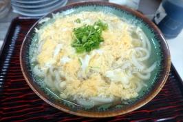 香川県観音寺市の柳川うどんで細麺な卵とじうどん♪