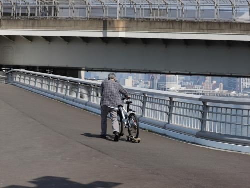 自転車は乗れません