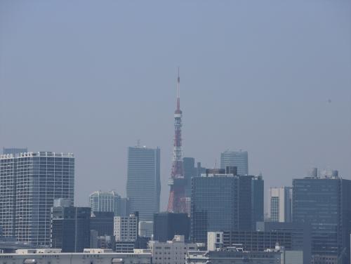 かすんでいる東京タワー