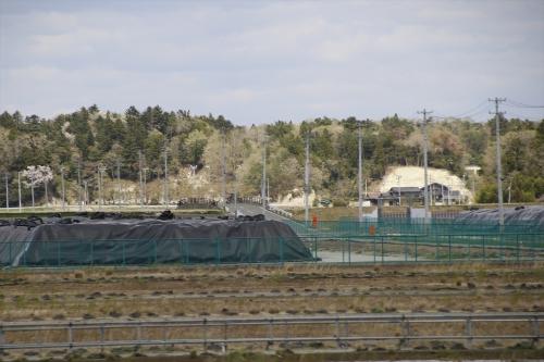 汚染土壌仮置き場