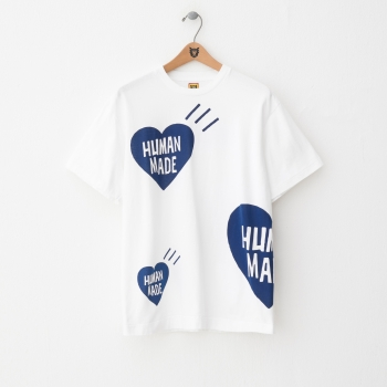 HM15-CS-013 BIG HEART PRINT T-SHIRT BL-A